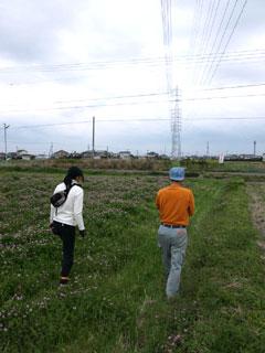 多種多様な春の草を踏みしめながら、新たに有機栽培化するとなりの田圃へ行く。そこもまた高圧電線の下。しかし松下は言う。「ここで育つ稲は高圧線に贖う力を獲得しているよ、稲は、いや植物はどんな環境でも生きようとする力を、もともと持っているんだ・・・ただ、その力を引き出すのも、邪魔をするのも人間なんだけどね・・・」。